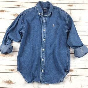 Boys Ralph Lauren Button Down Denim Shirt
